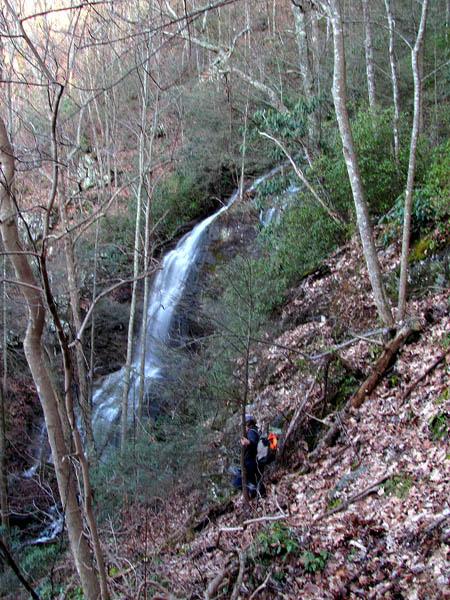 "Bol""Dar descending down the Middle Wilderness Falls"