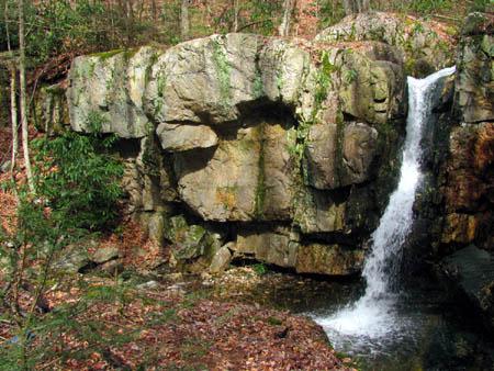 Left side of Upper Dick Creek Falls