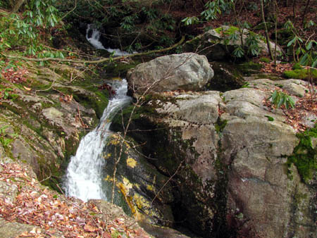 Dick Creek just above top of upper falls