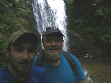 group selfie at falls