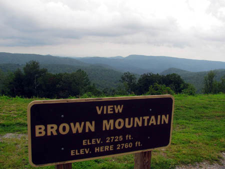 Brown Mountain Overlook