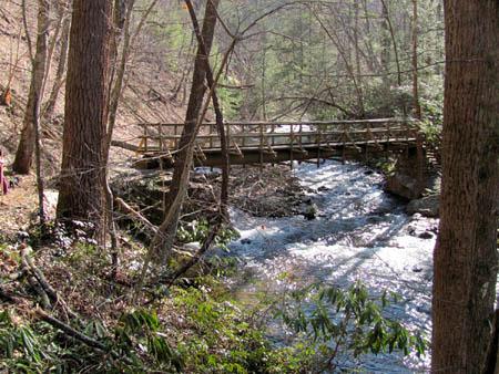 bridge along appalachian trail to Laurel Falls