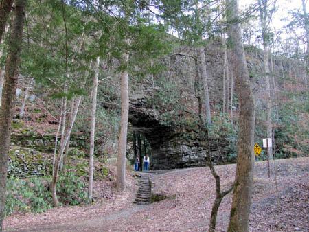Backbone Rock Natural Tunnel