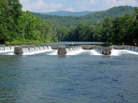 Weir Dams on South Holston River