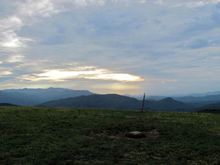 sunset on max patch