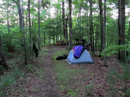 Campsite on the ridge just below Lamb Knob
