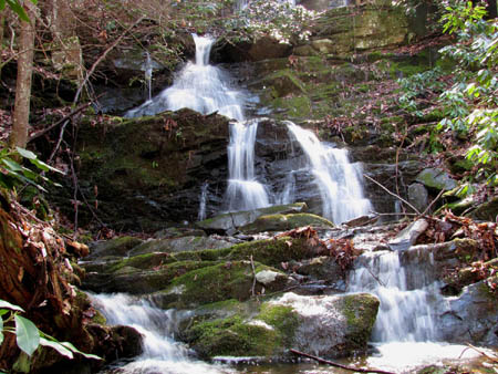 Lower parts of Middle Simmons Branch Falls