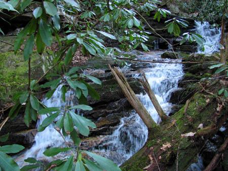 Falls and cascades above Josiah Falls
