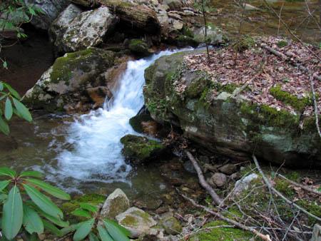 Cascades above Pine Ridge Falls