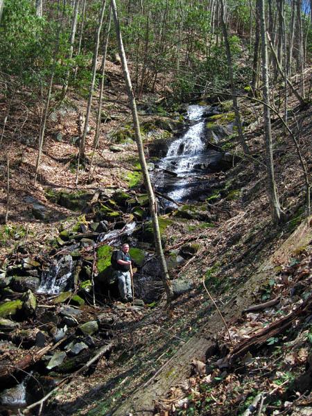 New Falls found along upper Devil Fork Cr.