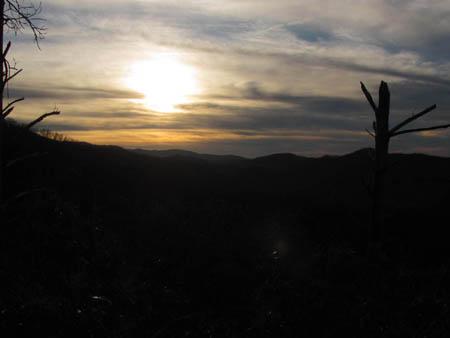 Sunset from the Turkeypen Ridge