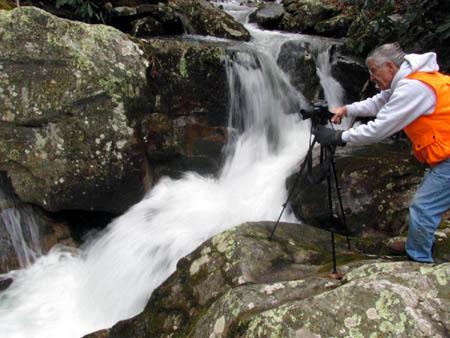 Dave Aldridge taking photo`s