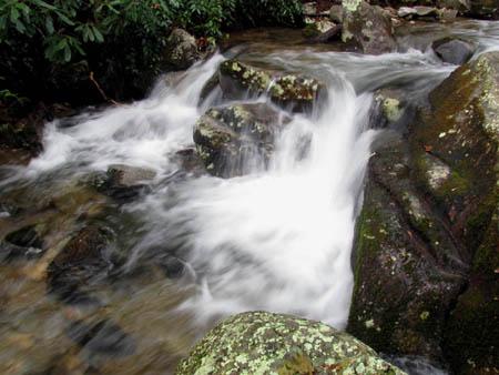 Second set of cascades above top of the Upper Devils Creek Falls