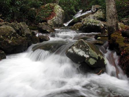 Third set of Cascades above Upper Devils Creek Falls