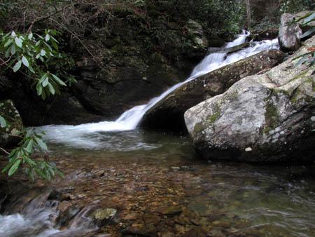 Last Cascade above Upper Devils Creek Falls