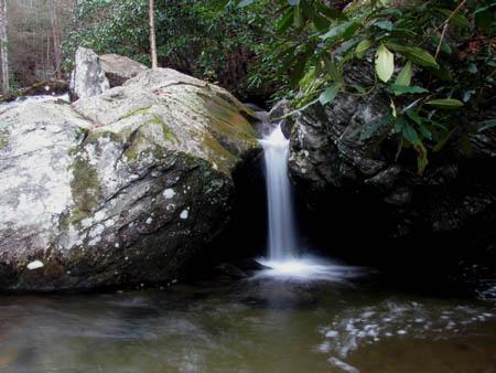 Part of the last cascade above the Upper Devils Creek Falls