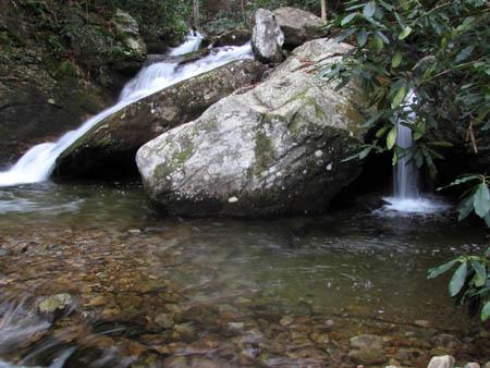 Last Cascades above Upper Devils Creek Falls