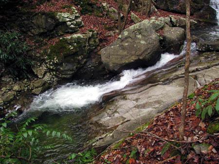 FIrst set of Cascades just below the Upper Devils Creek Falls