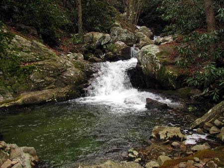 Second set of Cascades just below the Upper Devils Creek Falls