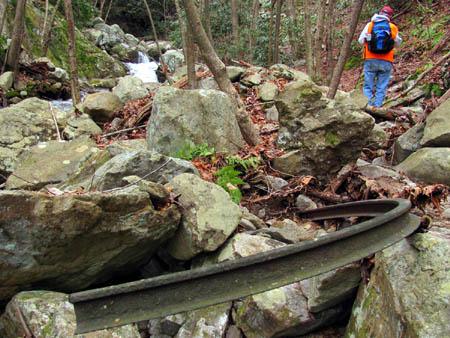 Bent piece of iron found in Devils Creek