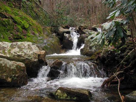 Third set of Cascades below the Upper Devils Creek Falls