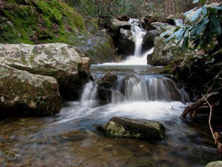 Third set of Cascades below Upper Devils Creek Falls