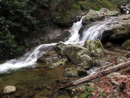 Fourth set of Cascades below Upper Devils Creek Falls