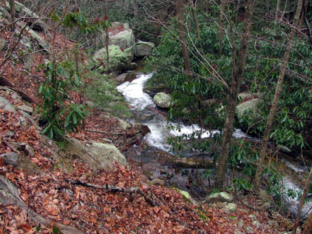 cascades and the 'table rock'