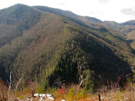 Flint Mountain and Flint Gap (right)