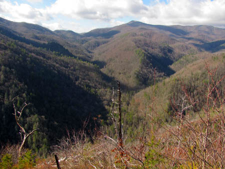 View over the Rocky Fork Valley of Flint Gap and Coldspring Mountain