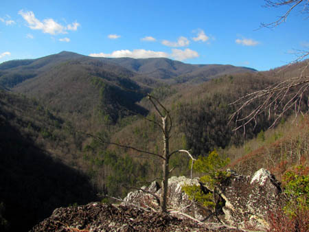 The view of the Rocky Fork Valley and Coldsrping Mountain