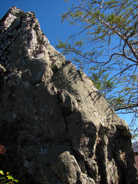 backside of the 'Dragon's Tooth' rock