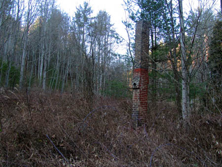 The old homestead site at the trailhead of Rocky Fork